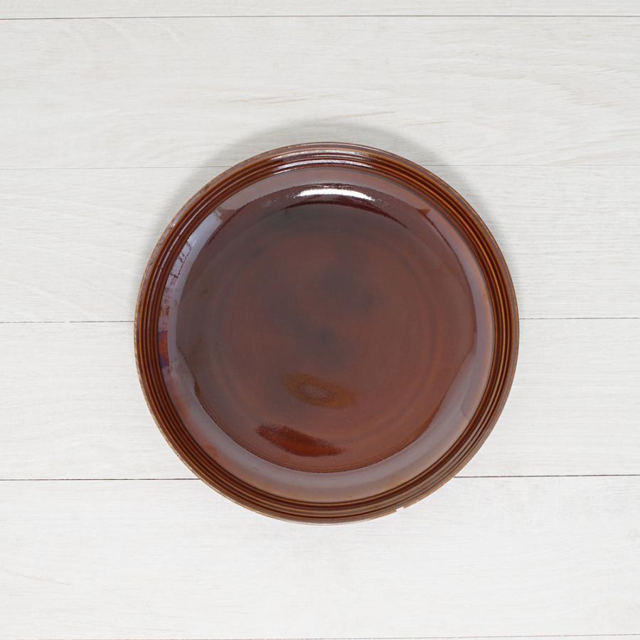 TLP BORDER 23cm DEEP PLATE ディーププレート深皿 アメ色 茶ブラウン|tlp