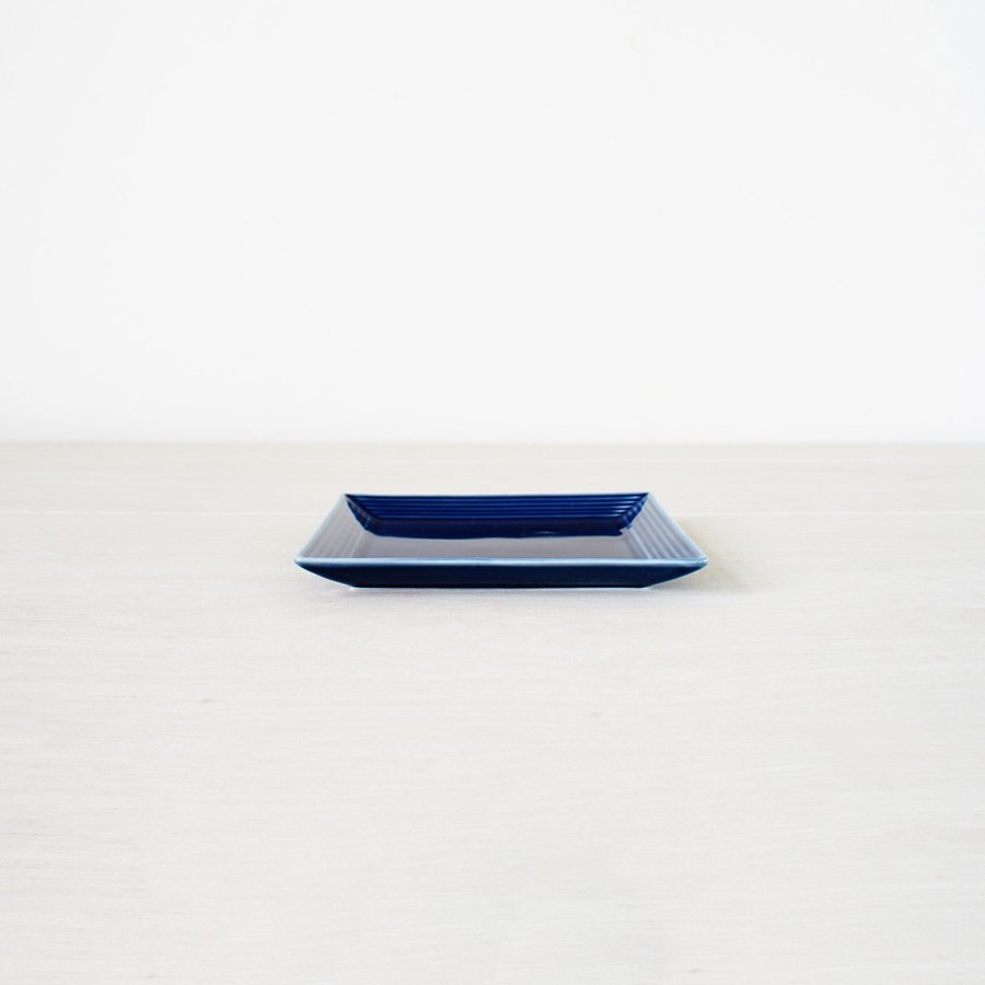 TLP BORDER 14cm SQUARE PLATE 角皿 瑠璃色 青ブルー|tlp|02
