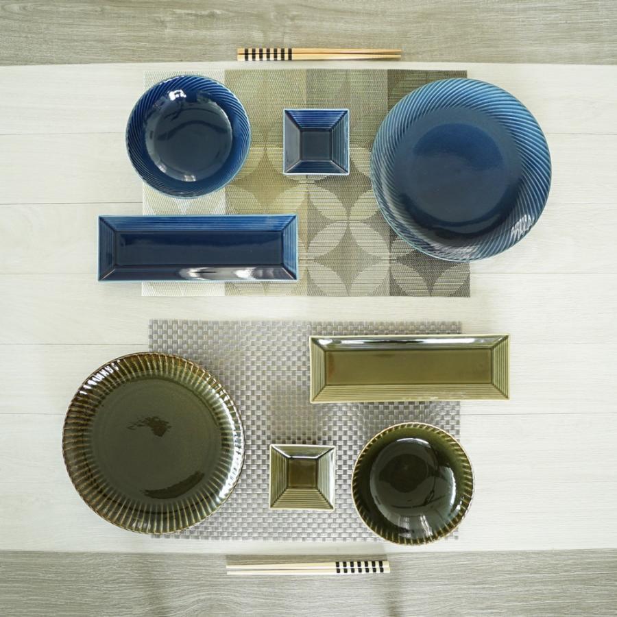 TLP BORDER 27x9cm RECTANGLER PLATE 長角皿 瑠璃色 青ブルー tlp 03
