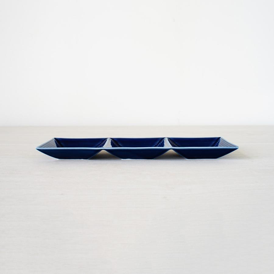 TLP BORDER 3SPICES PLATE 3連仕切り小皿 瑠璃色 青ブルー|tlp|02