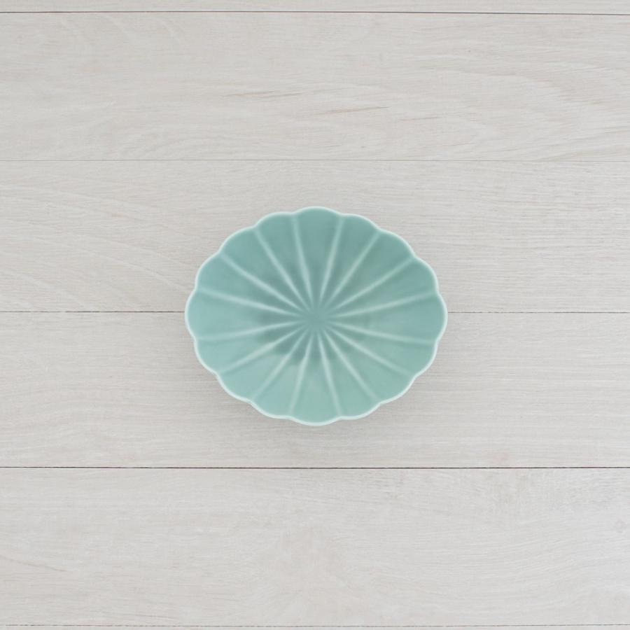 TLP KIKU 16cm OVAL BOWL オーバルボウル菊皿 青ターコイズブルー|tlp