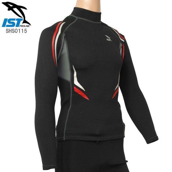 ウェットスーツ タッパー/インナー (ユニセックス ブラック Lサイズ) 1.5mm 保温性 「ISTPROLINE SHS0115」 (ダイビング)