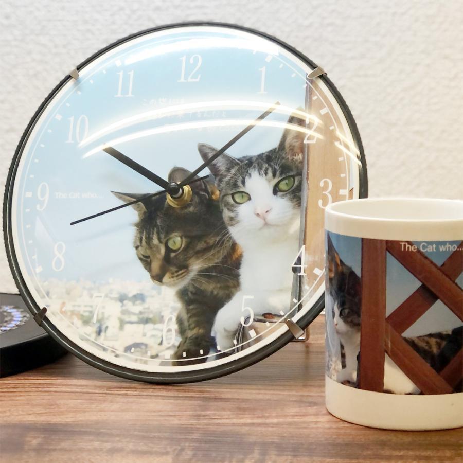 アートフォト壁掛け時計 The Cat who.... 青空ふたり猫 TCw001 (静音 静かな 写真壁時計 Art Photo Cats Clock 子供部屋 リビング とけい 送料無料)|tm1|04