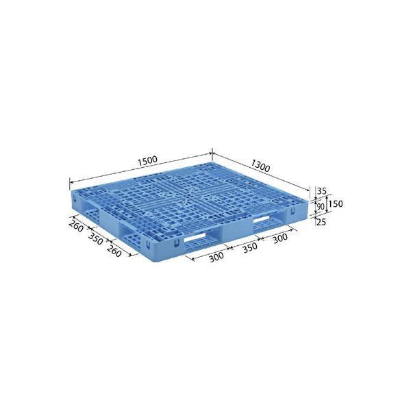 三甲(サンコー) プラスチックパレット/プラパレ (片面使用型) D4-1315 ライトブルー(青)(代引不可)