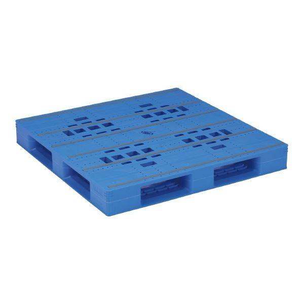 三甲(サンコー) プラスチックパレット/プラパレ (片面使用タイプ) 軽量 LX-1212D4 ブルー(青)(代引不可)