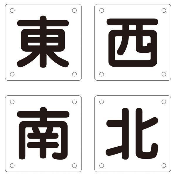 クレーン標識 東 西 南 北 クレーンB(大) (4枚1組)(代引不可)