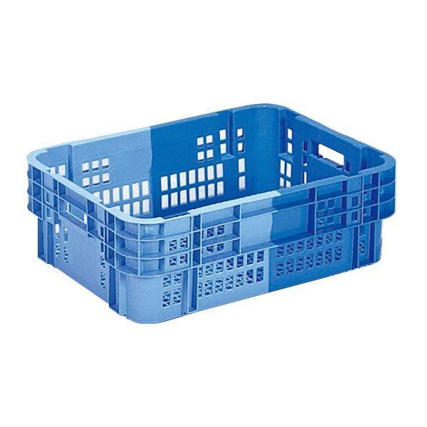 (業務用5個セット)三甲(サンコー) SNコンテナ/2色コンテナボックス (Cタイプ) 底面網目 #40-2 ブルー×ライトブルー(代引不可)