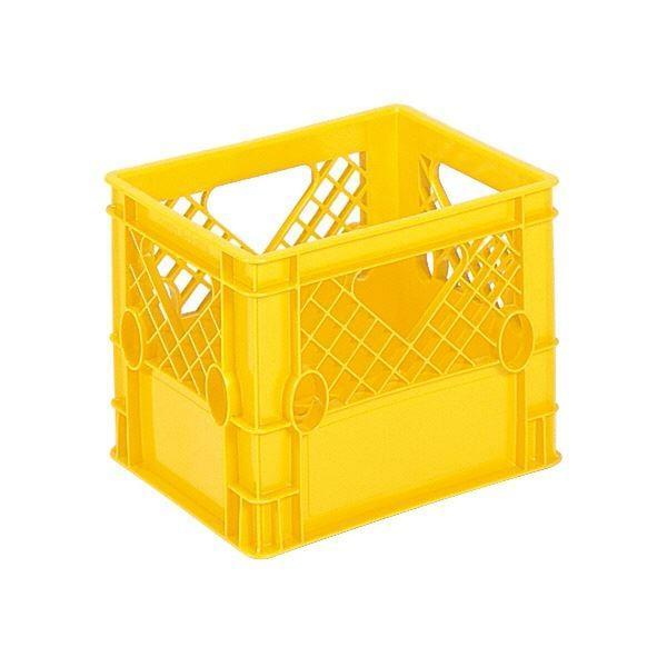 (業務用10個セット)三甲(サンコー) 飲料輸送用コンテナ/ピュアクレート (1L紙パック×12本用) 12P-4 イエロー(黄)(代引不可)
