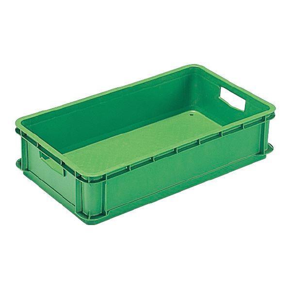 (業務用10個セット)三甲(サンコー) ベタ目コンテナボックス/サンボックス 21 グリーン(緑)(代引不可)