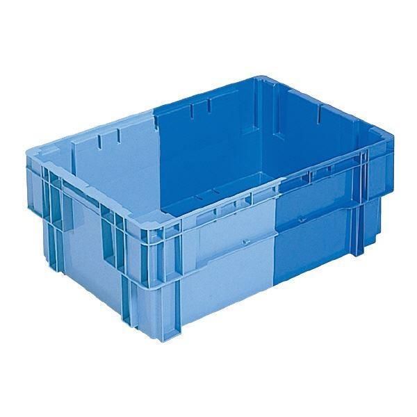 (業務用5個セット)三甲(サンコー) SNコンテナ/2色コンテナボックス (Bタイプ) #44 ブルー×ライトブルー(代引不可)