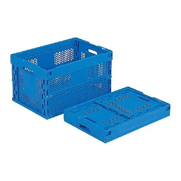 (業務用5個セット)三甲(サンコー) 折りたたみコンテナボックス/オリコン 50A-K ブルー(青) (フタ別売り)(代引不可)