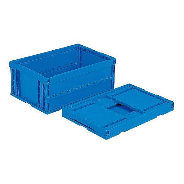 (業務用5個セット)三甲(サンコー) 折りたたみコンテナボックス/オリコン (64L) P65B ブルー(青) (フタ別売り)(代引不可)