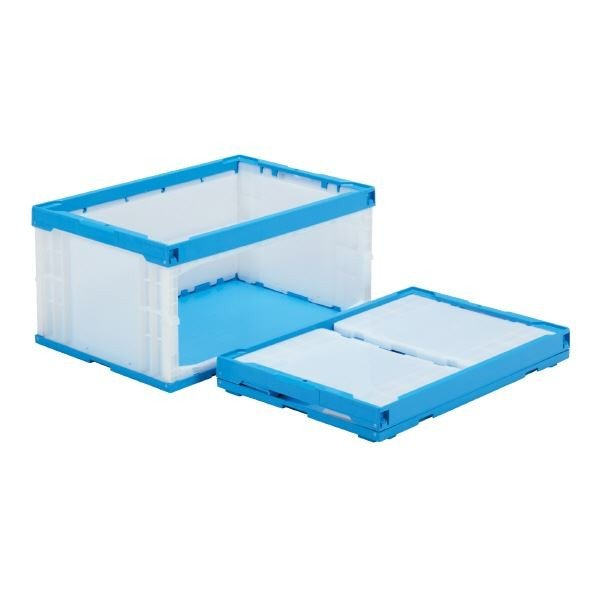 (業務用5個セット)三甲(サンコー) 折りたたみコンテナボックス/オリコンラック (長側扉なし) P75B-D ホワイト(白)(代引不可)