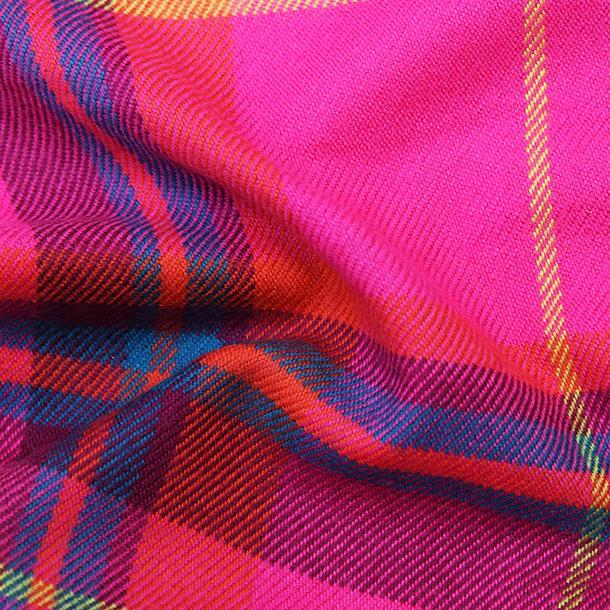 おしゃれ ブランド マフラー メリノウール } AVOCA アヴォカ Merinowool Scarves HOT PINK CHECK (177137) ピンク|tn-square|03