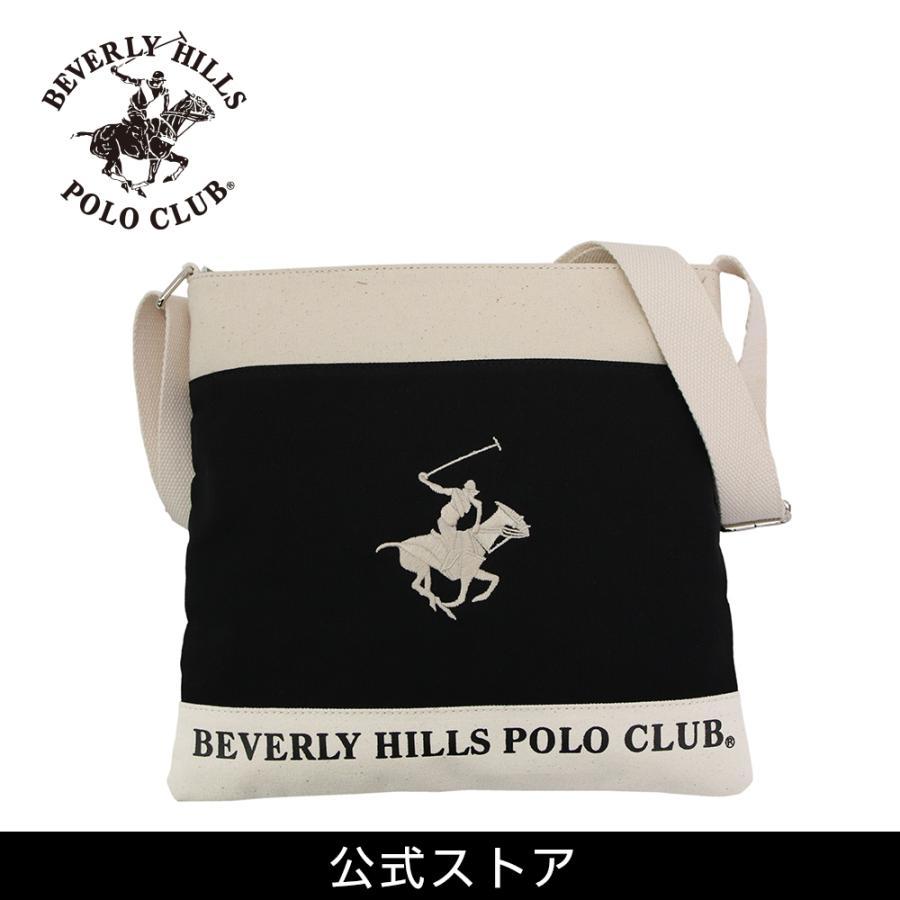 ショルダーバッグ メンズ レディース BEVERLY HILLS POLO CLUB BHC002 ブラック/アイボリー/ホワイト (181272) hawks202110|tn-square