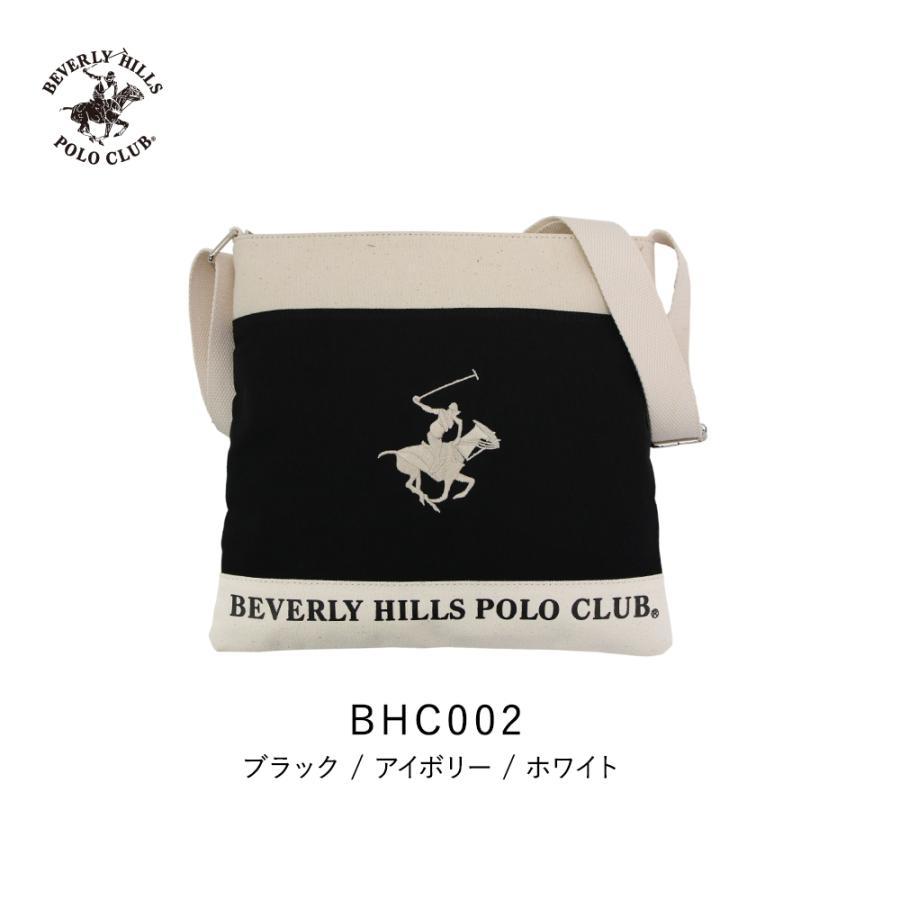 ショルダーバッグ メンズ レディース BEVERLY HILLS POLO CLUB BHC002 ブラック/アイボリー/ホワイト (181272) hawks202110|tn-square|03