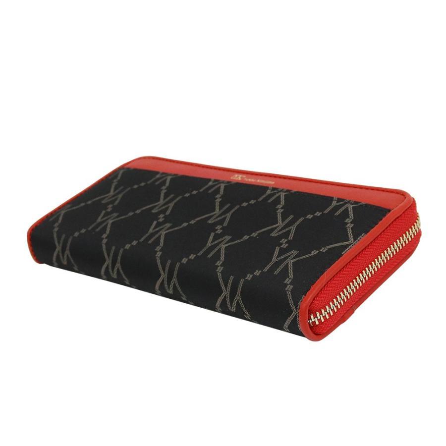 長財布 レディース Yukiko Kimijima ユキコ キミジマ ラウンドファスナー BK/RED 黒×赤 YK019-005 (183287)|tn-square|03