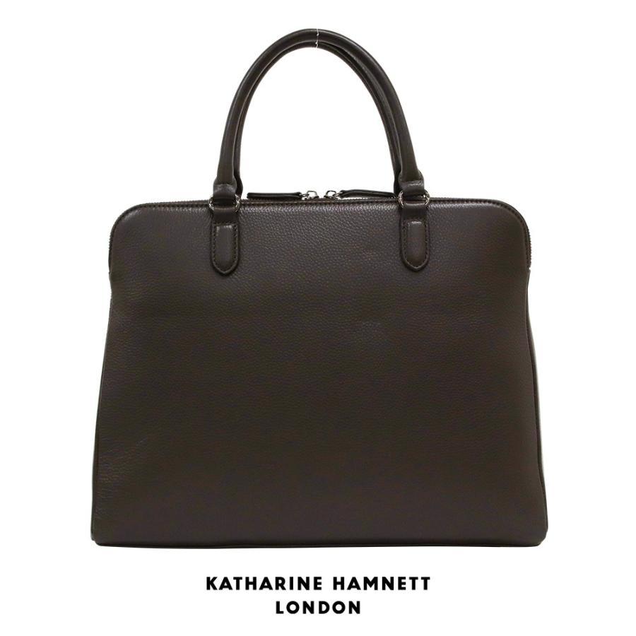 トートバッグ メンズ レザー 本革 KATHARINE HAMNETT LONDON キャサリンハムネット アウトレット ブラウン KH1643 (192889)プレゼント tn-square 02