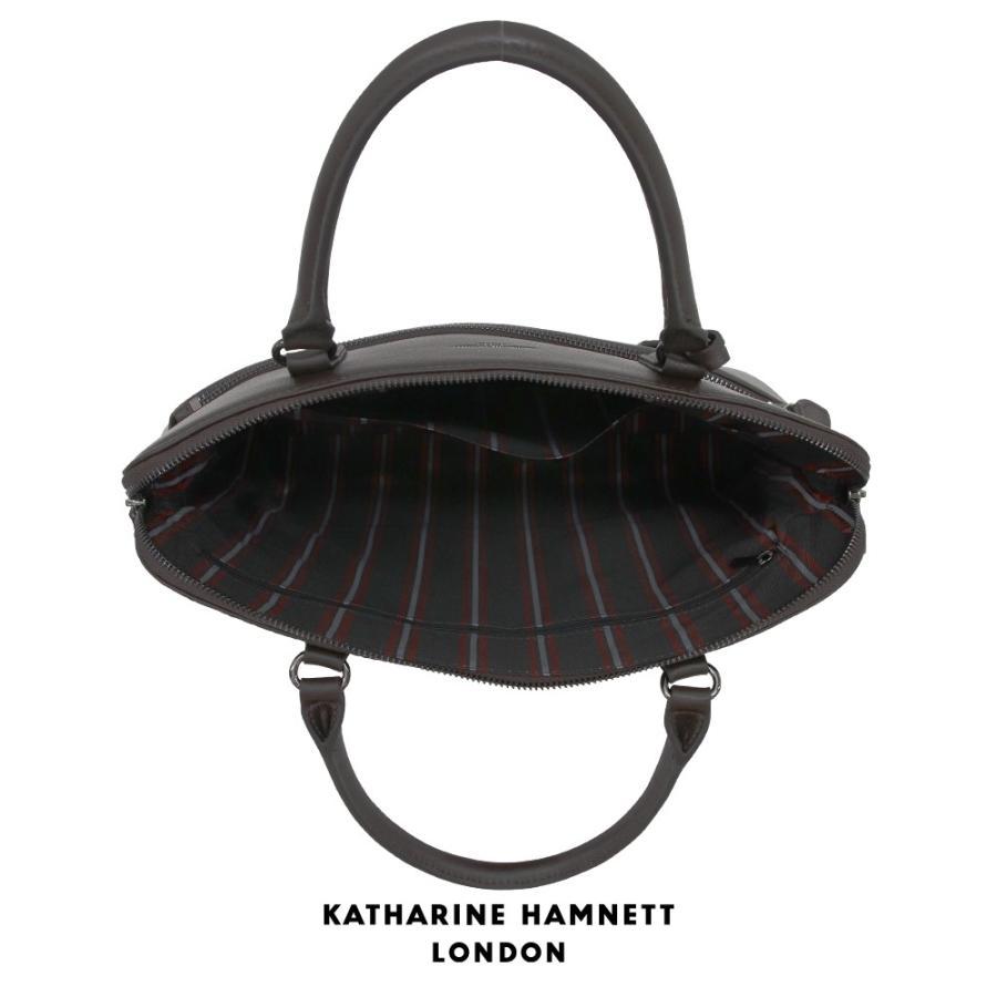 トートバッグ メンズ レザー 本革 KATHARINE HAMNETT LONDON キャサリンハムネット アウトレット ブラウン KH1643 (192889)プレゼント tn-square 03