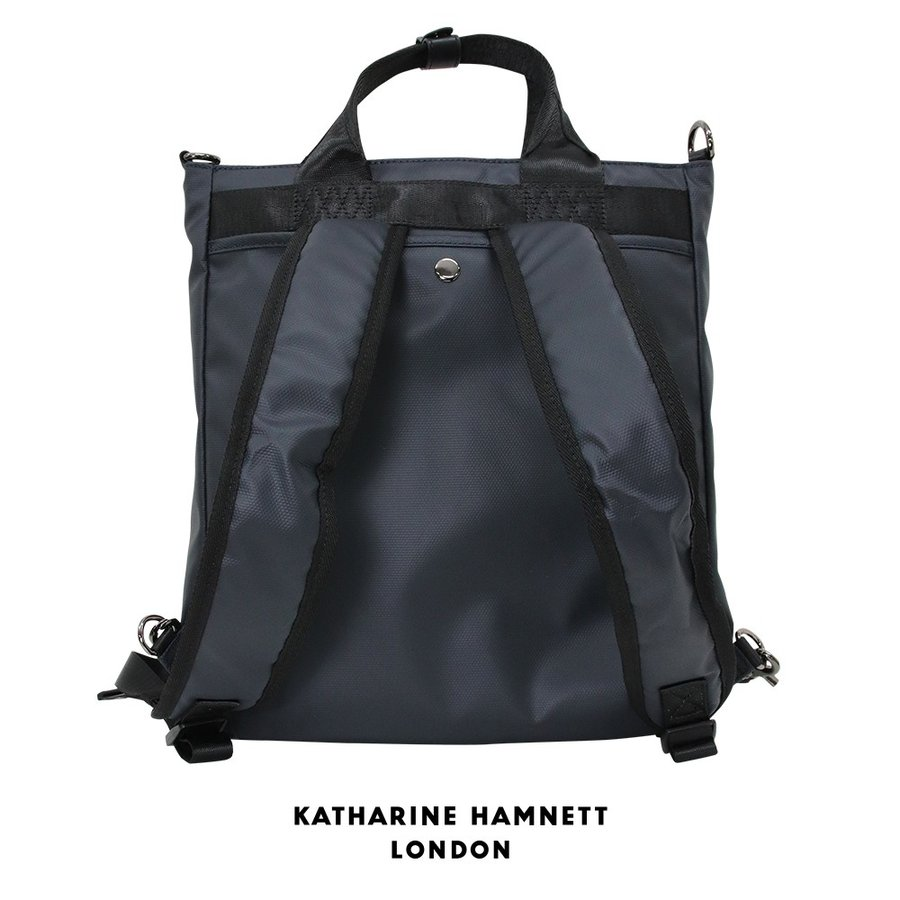 3WAY トート バッグ KATHARINE HAMNETT LONDON キャサリンハムネット アウトレット ネイビー KH1648(192891)プレゼント|tn-square|02