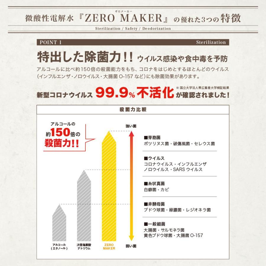 ノンアルコール 除菌 消臭 日本製 おしゃれ } Zero Maker ゼロメーカー 微酸性電解水 300ml 蓄圧式 ミスト スプレー (197222) tn-square 02