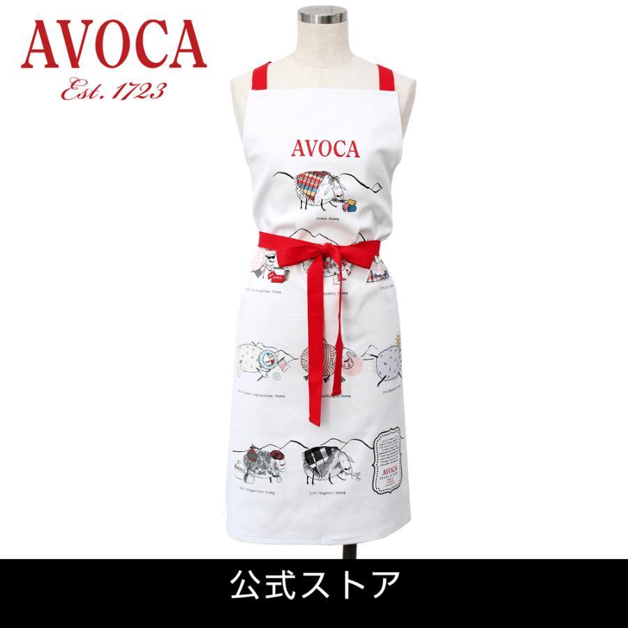 アウトレット エプロン おしゃれ 可愛いブランド AVOCA アヴォカ AVOCA SHEEP APRON THROUGH THE AGES ( apron-sheep ) {  保育士 羊 シープ アイルランド製 綿 tn-square