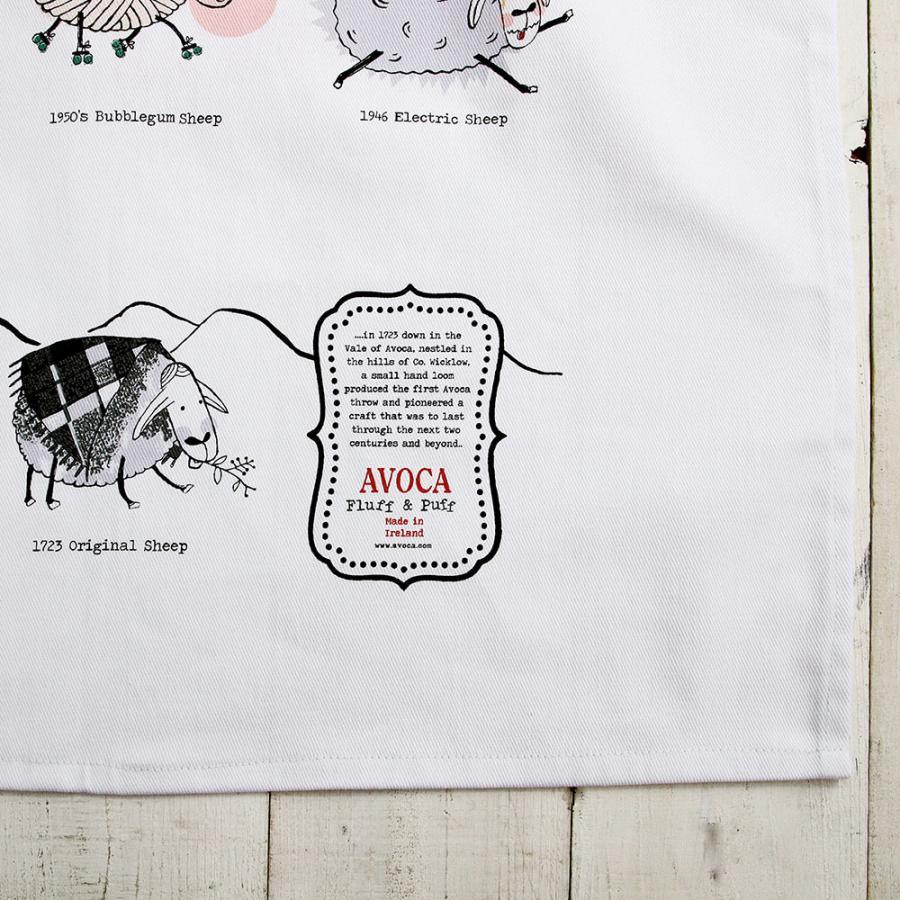 アウトレット エプロン おしゃれ 可愛いブランド AVOCA アヴォカ AVOCA SHEEP APRON THROUGH THE AGES ( apron-sheep ) {  保育士 羊 シープ アイルランド製 綿 tn-square 06