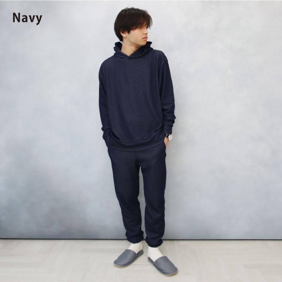 ルームウェア メンズ 日本製 上下セット 長袖 部屋着 3点セット CHILLCRIB and 1mile チルクリブ アンド ワンマイル Relax wear (cc-m1001)|tn-square|02
