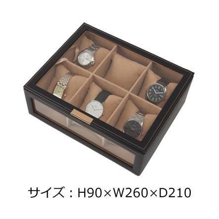 時計修理受付中 6本用合皮時計ケース|tn-square|02