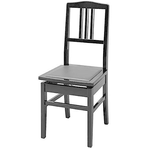 名陽木工 No.5 黒塗·黒座面 ピアノ椅子 背付タイプ メイヨウモッコウ