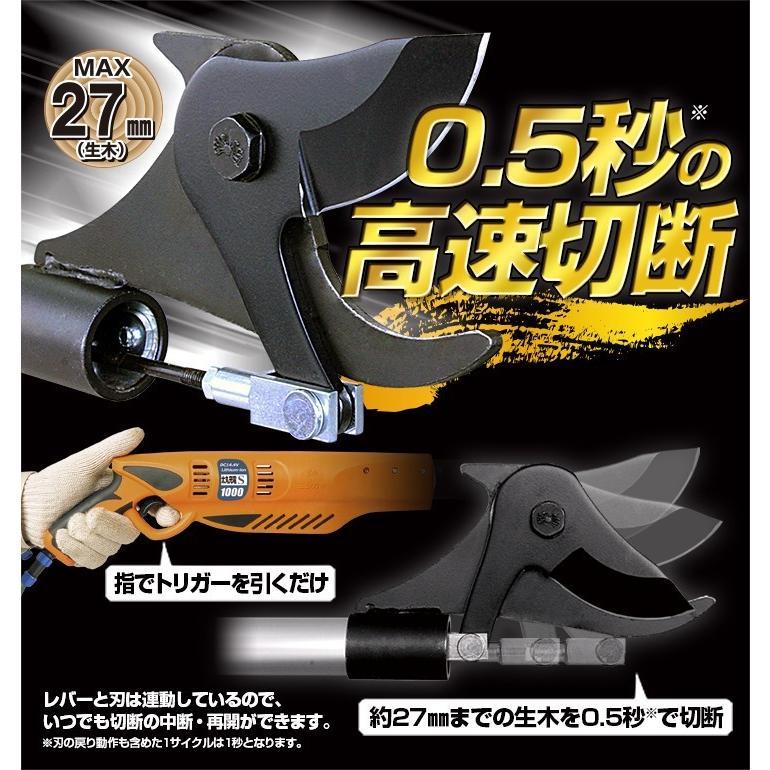 ニシガキ工業 太丸充電S1000 充電式太枝切鋏 N-921 長さ1.0m 重量1.89kg (14.4V 7.0Ahバッテリー・充電器付き)|tobeyaki|02