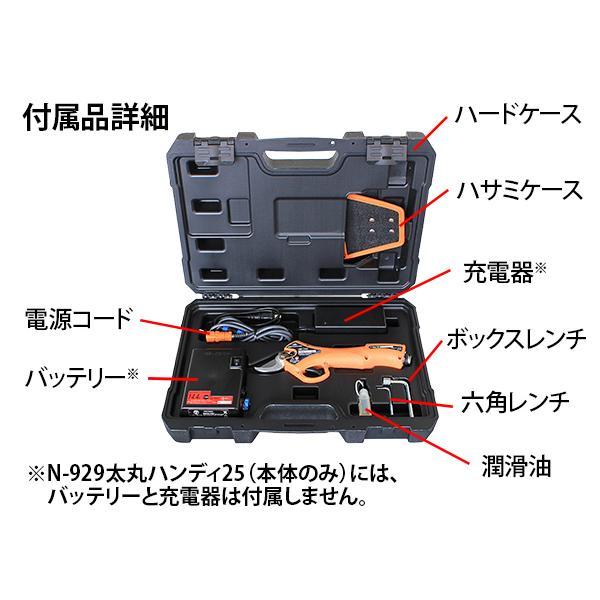 ニシガキ工業 太丸ハンディ25 充電式剪定鋏 N-928 本体重量670g (バッテリー・充電器付き)|tobeyaki|08