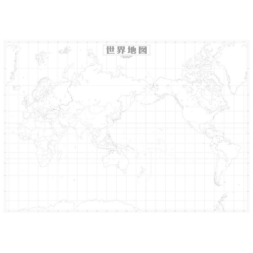 世界白地図|tobunsha-map