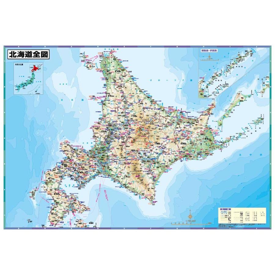 北海道全図 tobunsha-map
