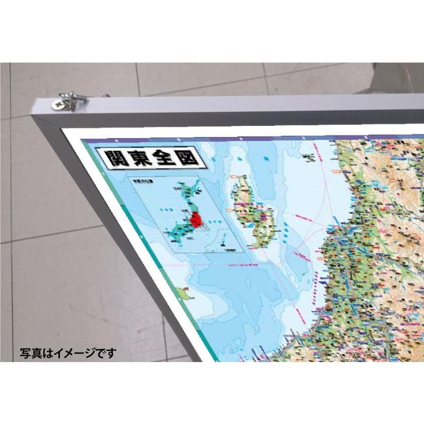関東全図 A0判 パネル加工 tobunsha-map 02