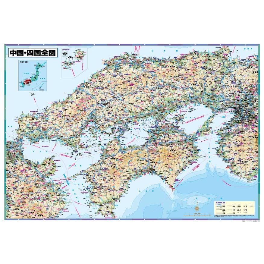 中国・四国全図 B0判  tobunsha-map