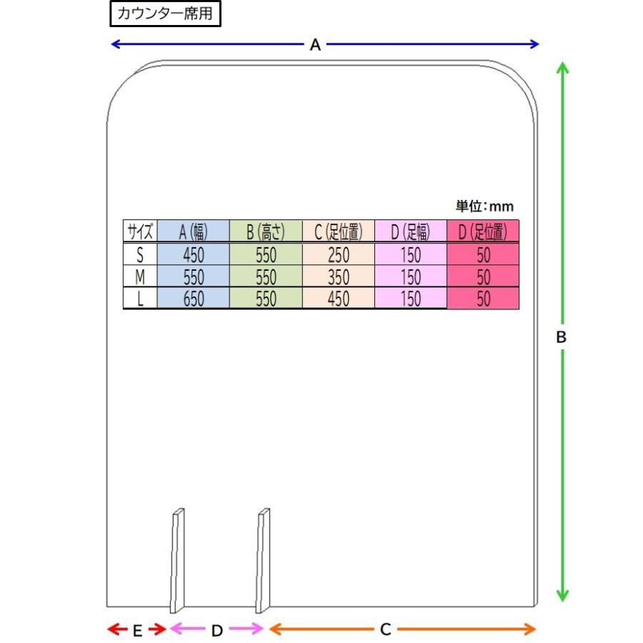 Pパーテーション プラダン ホワイト カウンタータイプ Sサイズ 10枚入り tohmei 03