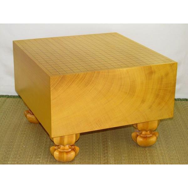 碁盤 本榧天地柾目六寸五分碁盤/サービス品(G116)