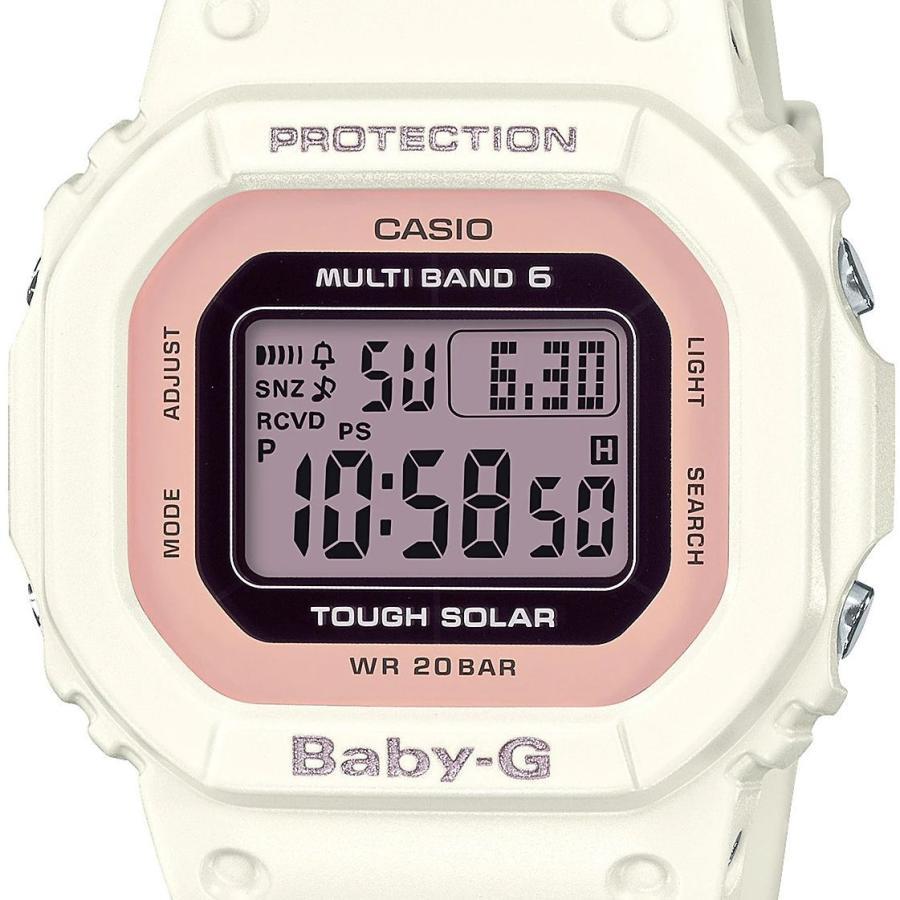 BABY-G ベビージー BGD-5000U-7DJF 電波ソーラー 国内正規品 スクエアモデル レディース 女性向け腕時計 ホワイト×ピンク|tokei-akashiya|02