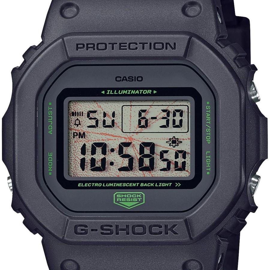 【訳アリ商品】 箱潰れがございます G-SHOCK ジーショック DW-5600MNT-1JR スクエアモデル MUSIC NIGHT TOKYO ダークグレー×グリーン 腕時計 CASIO カシオ|tokei-akashiya|02
