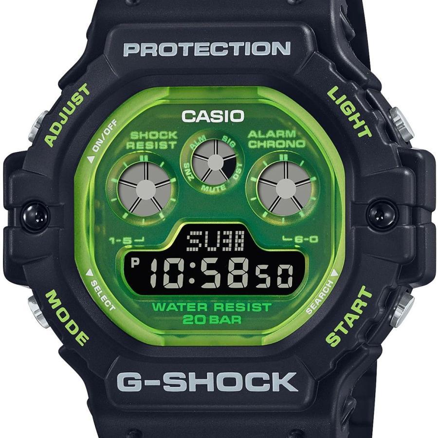 G-SHOCK ジーショック DW-5900TS-1JF 透明蛍光文字板 ブラック×グリーン ウレタンバンド 20気圧防水 メンズ 腕時計 CASIO カシオ tokei-akashiya 02