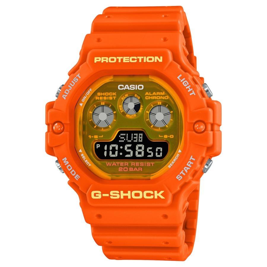 G-SHOCK ジーショック DW-5900TS-4JF 透明蛍光文字板 オレンジ ウレタンバンド 20気圧防水 メンズ 腕時計 CASIO カシオ tokei-akashiya