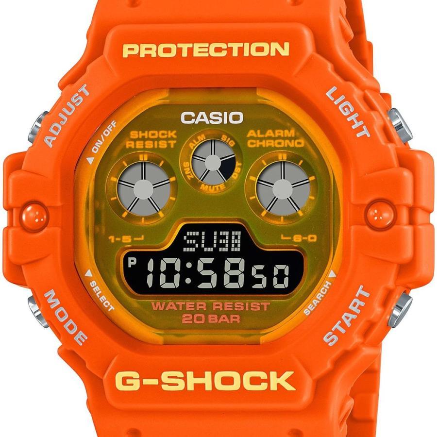 G-SHOCK ジーショック DW-5900TS-4JF 透明蛍光文字板 オレンジ ウレタンバンド 20気圧防水 メンズ 腕時計 CASIO カシオ tokei-akashiya 02