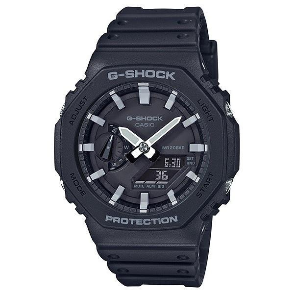 G-SHOCK ジーショック GA-2100-1AJF カーボンコアガード CarbonCore Guard 八角形フォルム ブラック×ホワイト 腕時計 CASIO カシオ|tokei-akashiya