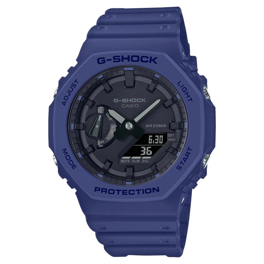 G-SHOCK ジーショック GA-2100-2AJF オクタゴン 八角形 カーボンコアガード構造 ブルー×ブラック メンズ 腕時計 CASIO カシオ|tokei-akashiya