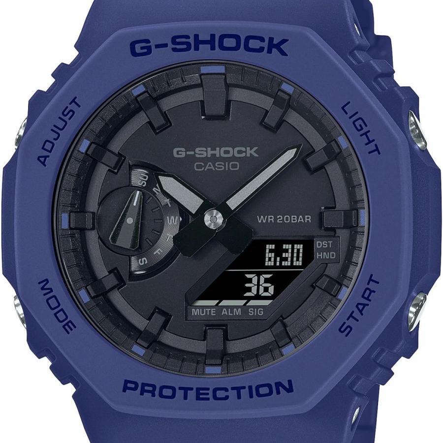 G-SHOCK ジーショック GA-2100-2AJF オクタゴン 八角形 カーボンコアガード構造 ブルー×ブラック メンズ 腕時計 CASIO カシオ|tokei-akashiya|02