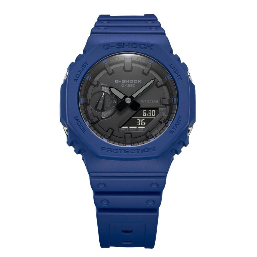 G-SHOCK ジーショック GA-2100-2AJF オクタゴン 八角形 カーボンコアガード構造 ブルー×ブラック メンズ 腕時計 CASIO カシオ|tokei-akashiya|03