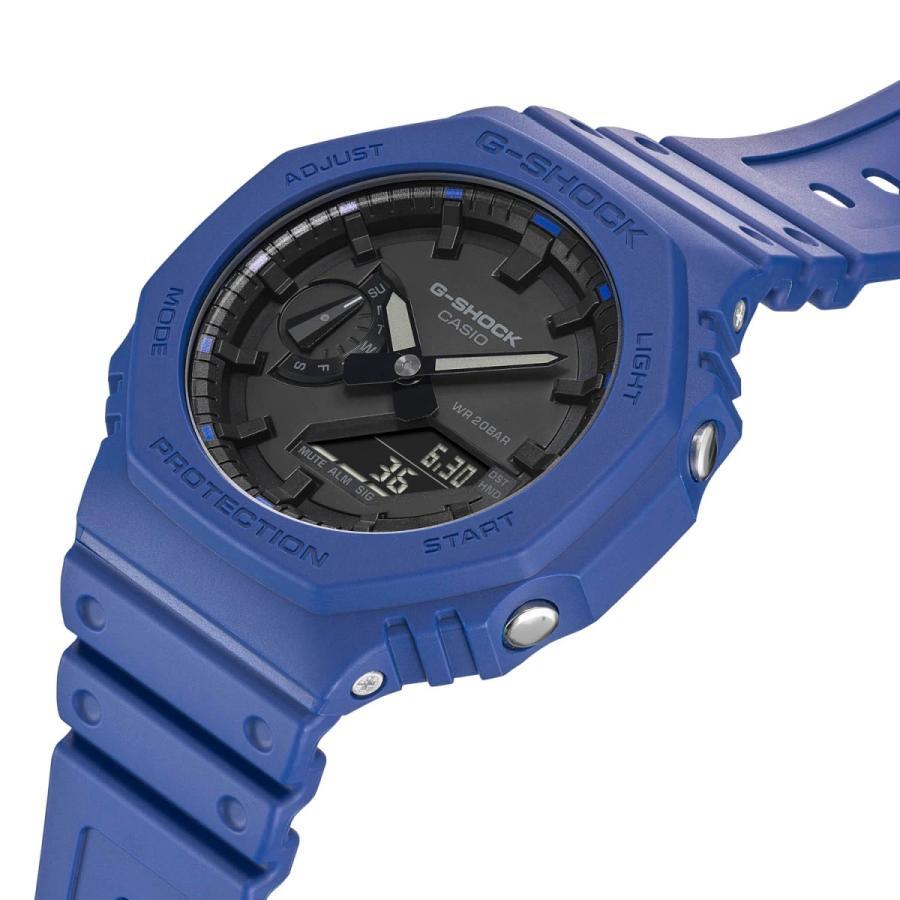 G-SHOCK ジーショック GA-2100-2AJF オクタゴン 八角形 カーボンコアガード構造 ブルー×ブラック メンズ 腕時計 CASIO カシオ|tokei-akashiya|05