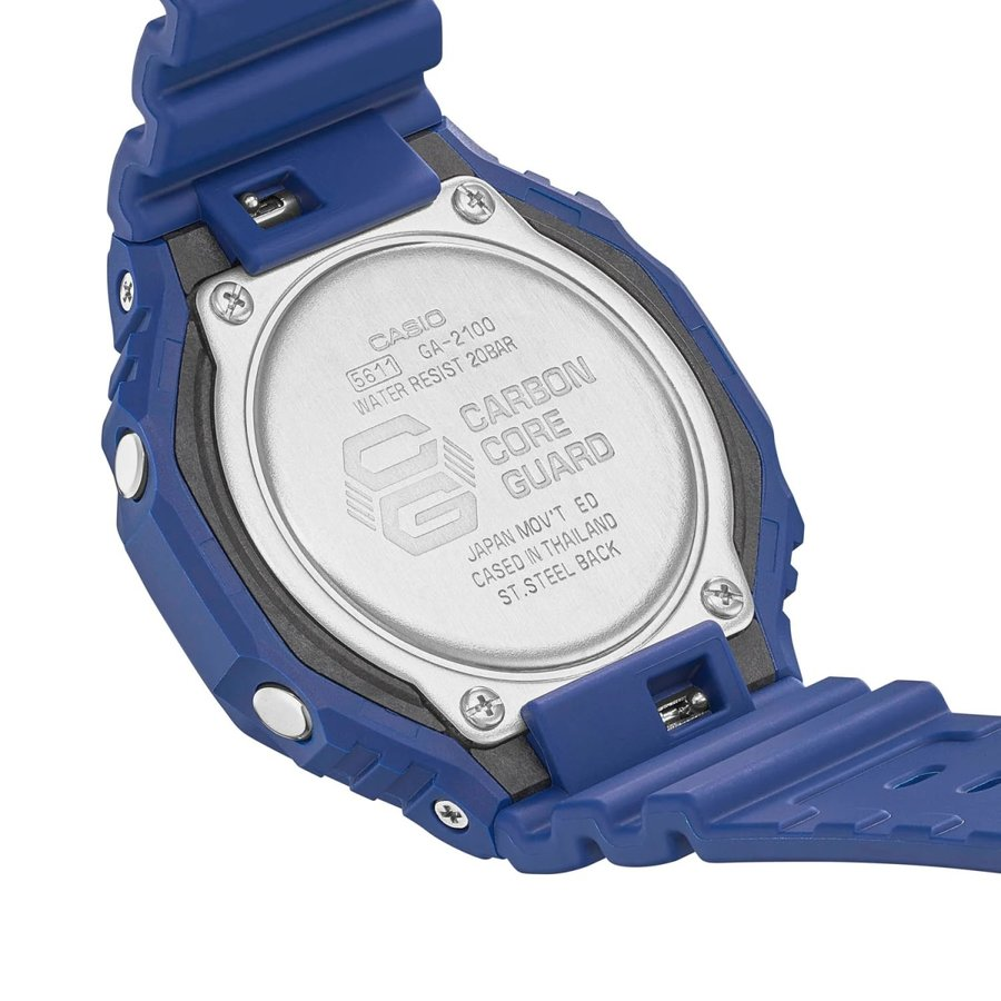 G-SHOCK ジーショック GA-2100-2AJF オクタゴン 八角形 カーボンコアガード構造 ブルー×ブラック メンズ 腕時計 CASIO カシオ|tokei-akashiya|06
