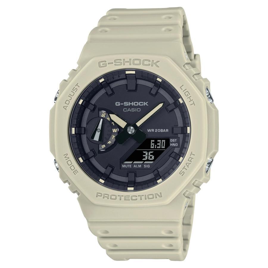 G-SHOCK ジーショック GA-2100-5AJF オクタゴン 八角形 カーボンコアガード構造 ベージュ×ブラック メンズ 腕時計 CASIO カシオ|tokei-akashiya